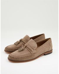 H by Hudson Guilder Woven Tassel Loafers - Brown