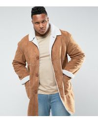 Sixth June - Faux Shearling Jacket In Tan Exclusive To Asos - Lyst