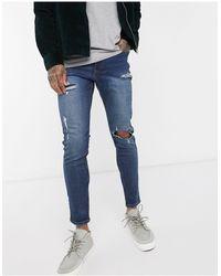New Look – Skinny-Jeans - Blau