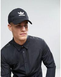 adidas Originals - Trefoil Cap In Black Bk7277 - Lyst