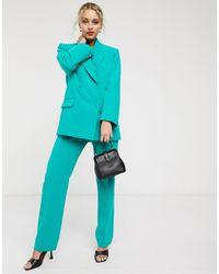 & Other Stories High-waist Straight Leg Trousers - Green