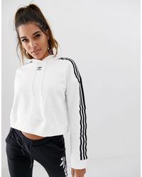 adidas Originals Adicolor Cropped Hoodie - White