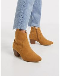 Oasis Western Ankle Boots - Brown