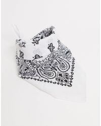 ASOS Bandana Print Square Scarf - White