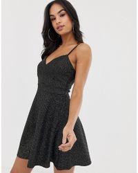 LIPSY Noir Oriental Floral Soirée Casual à manches longues Maj Mini Robe £ 45