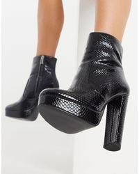 ALDO Platform Ankle Boots - Black