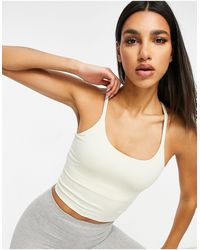 ASOS 4505 - Icon Yoga Cami Crop Top With Inner Bra - Lyst