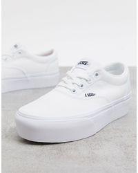 Vans Doheny - Sneakers Met Canvas En Plateauzolen - Wit