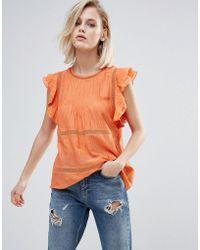 Pepe Jeans Hanna Sleeveless Top - Orange