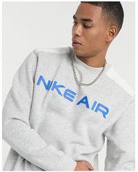 Nike - Серый Свитшот С Круглым Вырезом Air - Lyst