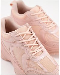 ASOS - Пыльно-розовые Кроссовки На Массивной Подошве Для Широкой Стопы - Lyst