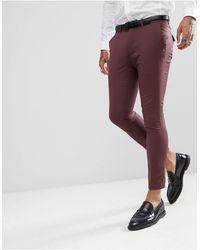 Rudie Plain Super Skinny Suit Crop Pants - Red
