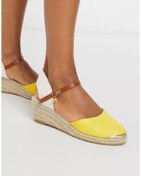 Miss Kg Lea Heeled Espadrilles - Yellow