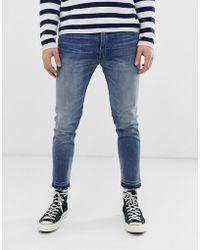 Polo Ralph Lauren Eldridge - Skinny-fit Cropped Stretch Jeans Met Onafgewerkte Zoom In Vintage Mid Wash - Blauw