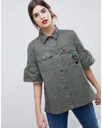 Esprit - Utility Short Sleeved Jacket - Lyst