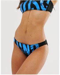 Moschino Slip bikini con logo - Nero