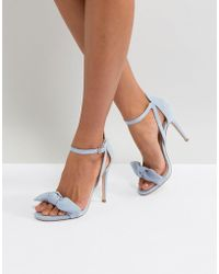 Miss Kg - Bow Front Heeled Sandal - Lyst