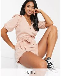 Miss Selfridge Frill Playsuit - Pink
