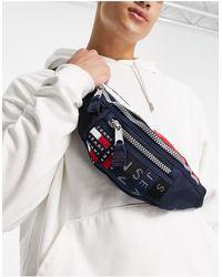 Tommy Hilfiger Темно-синяя Сумка-кошелек На Пояс Со Сплошным Принтом Логотипа -темно-синий