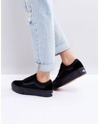 Vans Old Skool - Sneakers nero triplo con plateau