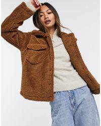AX Paris Коричневая Куртка Из Искусственного Меха -коричневый Цвет