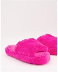 ASOS Zane Chunky Slider Slipper - Pink