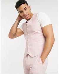 ASOS Wedding Skinny Suit Waistcoat - Pink