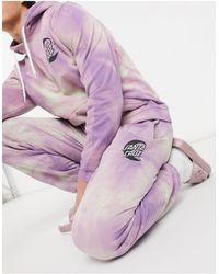 Santa Cruz Moon Dot Mono Tie-dye Co-ord Trackies - Purple