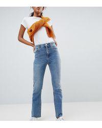 ASOS Asos Design Tall Egerton Rigid Cropped Flare Jeans In Vintage Mid Wash - Blue