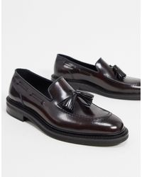 Reiss Moray Tassle Loafers - Red