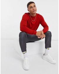 Tommy Hilfiger – Flex – Pullover mit Rundhalsausschnitt, Stückfärbung - Rot
