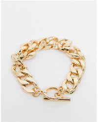 TOPSHOP Bracelet à gros maillons ornés - Métallisé