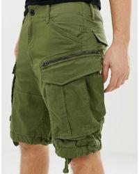 G-Star RAW Rovic Zip Cargo Shorts In Green
