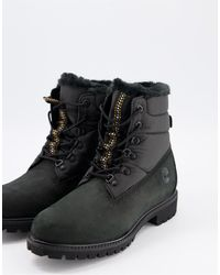 Timberland Черные Ботинки 6 Дюймов С Подкладкой Из Меха -черный Цвет