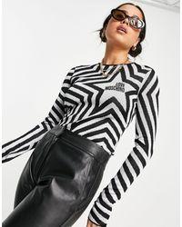 Love Moschino Серебристый Джемпер С Логотипом В Форме Звезды -серый - Черный