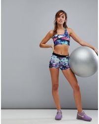 Nike - Pro Training 3 Inch Floral Print Short - Lyst