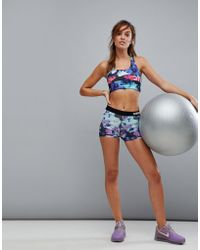 Nike - Pro Training 3 Inch Floral Print Short - Lyst