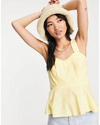 Y.A.S Бледно-желтая Блузка Без Рукавов Из Органического Хлопка -желтый