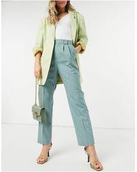 & Other Stories High-waist Straight Leg Pants - Green