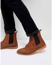 SELECTED - Suede Chelsea Boot - Lyst