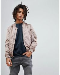 Alpha Industries - Ma-1 Vf Lw Reversible Bomber Jacket Slim Fit In Mauve/chocolate Chip Camo - Lyst