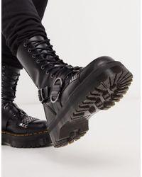 Dr. Martens Высокие Черные Ботинки С Заклепками И 10 Парами Люверсов Jadon-черный
