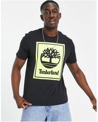Timberland Stack Logo T-shirt - Black