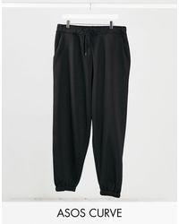 ASOS Asos Design Curve Oversized jogger - Black