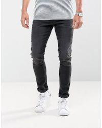 Casual Friday - Slim Fit Jeans In Washed Black - Lyst