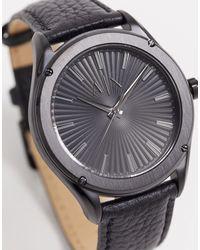 Armani Exchange - Черные Часы С Кожаным Ремешком Fitz Ax2805-черный - Lyst