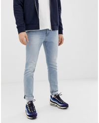 Esprit Skinny Fit Low Rise Jeans In Light Blue Wash