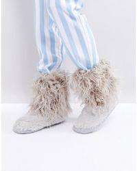 Bedroom Athletics - Jean Short Faux Fur Boot - Lyst