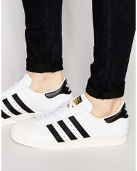 adidas Originals Superstar Animal Leather Sneakers - White