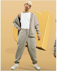 ASOS Co-ord Heavyweight Oversized joggers - Brown